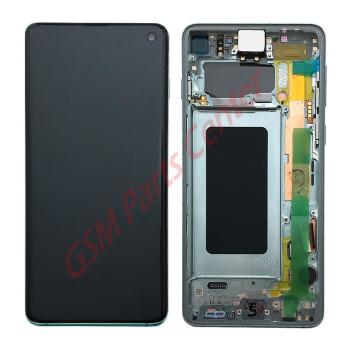 Samsung G973F Galaxy S10 LCD Display + Touchscreen + Frame GH82-18850E/GH82-18835E Green