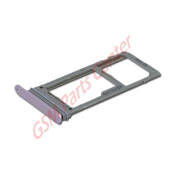 Samsung N960F Galaxy Note 9 Simcard holder + Memorycard Holder GH98-42940E Lavender Purple