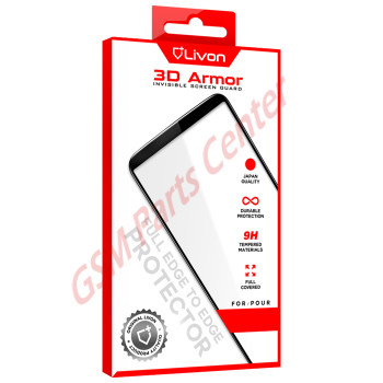 Livon  Huawei P30 (ELE-L29) Tempered Glass 3D Armor - Black