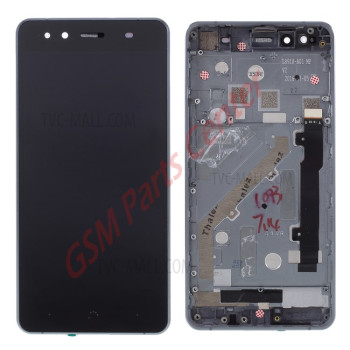 BQ Aquaris X5 LCD Display + Touchscreen + Frame - Black