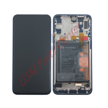 Huawei Y Series LCD Display + Touchscreen + Frame Incl. Battery + Parts 02352RXU Blue