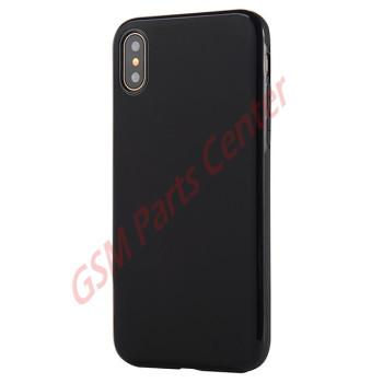 Apple iPhone X - Sulada Slim Magnetic TPU Case - Black