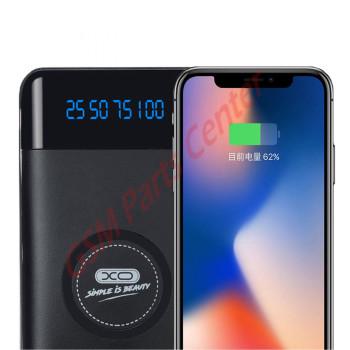 XO Wireless QI Powerbank Charger - 10.000mAh - Bussiness Black